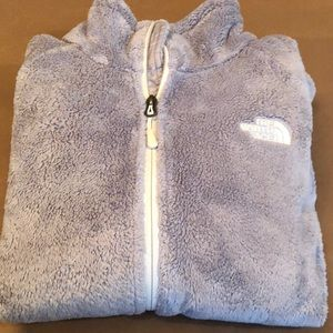 Women's north face fleece jacket gray small